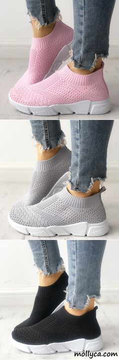 $29.99 USD Sale! SHOP NOW! Free Shipping Elastic Cloth Sneaker Shoes