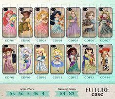 Disney Princess iPhone 5 Case iPhone 5c Cover iPhone 5s Skin iPhone 4 Case iPhone 4s Cover phone skin cover skin