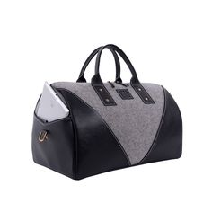 The OXFORD Duffel boasts large outside compartmental pockets that can hold your media, tablets, news and more while also displaying your interests in conjunction with your personal style. #BAREITALL