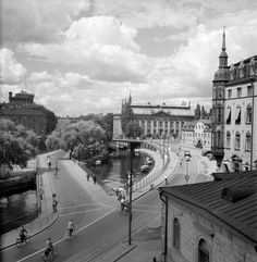 Alaska, Stockholm Sweden, Black And White Pictures, Vintage Photographs, Old Pictures, Paris Skyline, The Past, Louvre, City
