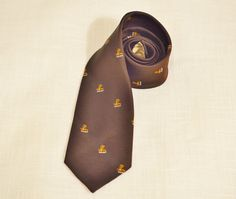Unique Vintage Bug/Insect/Wasp Tie - Brown Tie by EclecticLoveVintage