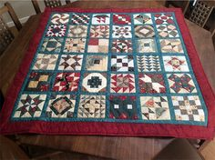 Beryl's lovely Bible Blessing quilt featuring 36 blocks