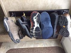 Keep your sneakers and sandals organized and out of the way.