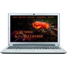 Exercice Photoshop: créér un visuel d'Halloween et l'intégrer sur différents devices. Ici sur un ordinateur portable.