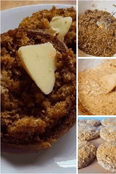 Janet's Yogurt Bran Muffins are light, moist, full of flavor, and quick to make. Healthy and delicious, they will be a new favourite. All Bran Muffins, Banana Bread Muffins, Muffin Bread, Baking Muffins, Blueberry Bread, Mini Muffins, Apple Cake Recipes, Dessert Cake Recipes, Easy Desserts