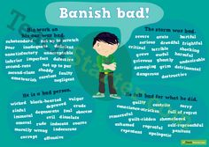 Encourage your students to use words other than 'bad' in their writing.