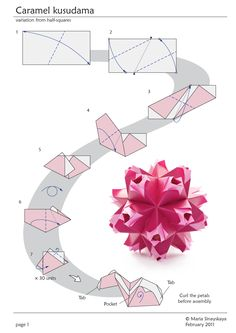 Caramel Kusudama by Maria Sinayskaya - Diagram | Go Origami!