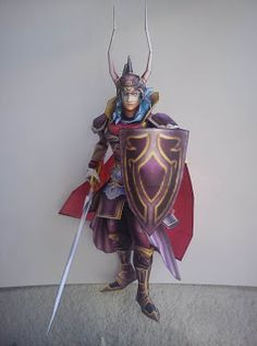 Final Fantasy Papercraft: Warrior of Light | web wanderers