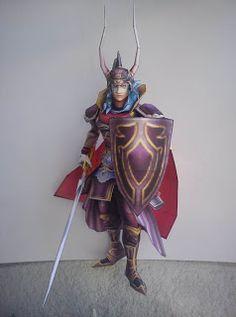 Final Fantasy Papercraft: Warrior of Light   web wanderers