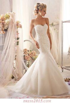 mermaid wedding dress lace, I love the crystals!