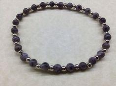 Handmade LABRADORITE 4mm Gemstone Bead BRACELET CHAKRA Healing Energy Balancing