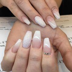 """70 gilla-markeringar, 3 kommentarer - NN Nails (@nn_nails_salong) på Instagram: """"French ombre & swarovski #nagelterapeut #nagelteknolog #nagelbyggning #gelenaglarstockholm…"""""""