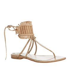 Another great find on #zulily! Beige Verde Woven Leather Sandal by Maxstudio.com #zulilyfinds