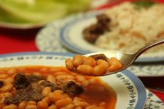Turkish Navy Bean Stew Recipe: Navy bean stew served with rice pilaf is considered Turkey's national dish.