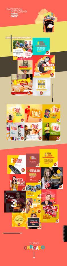 Posts para redes sociais do Colégio Alfredo Dantas, Campina Grande - Paraíba