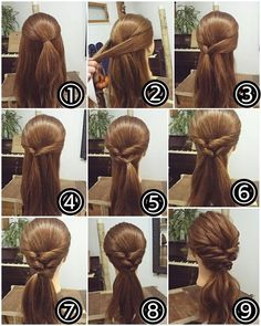 Long twists to a loose ponytail #Cool #Hair