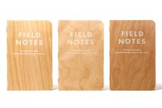 """Field Notes """"Shelterwood"""" Edition Made from Real Wood"""