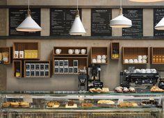 Интерьер кафе в стиле лофт представляет студия Paul Crofts
