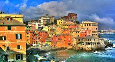 Boccadasse, antico borgo marinaro della città di Genova.  Foto Perri