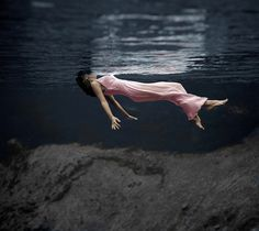 Photo by Toni Frissell in 1947 at at Weeki Wachee Spring, Florida.  Colorized version.