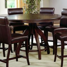 Lowest price online on all Hillsdale Nottingham Round Counter Height Dining Table   - 4077DTBG