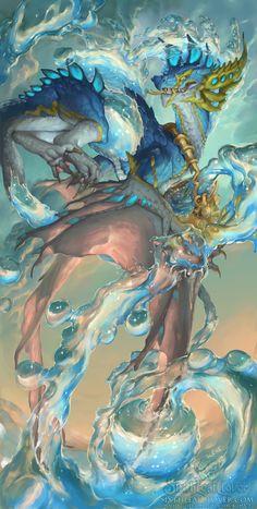 ArtStation - 2016 Zodiac Dragon Aquarius, Christina Yen