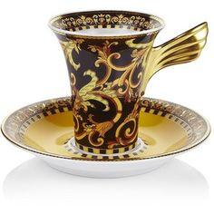 VERSACE Ikarus Barocco Espresso Cup & Saucer