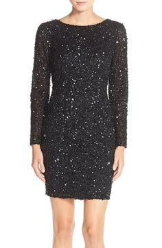 Adrianna Papell Embellished Scoop Back Cocktail Dress (Regular & Petite) available at #Nordstrom