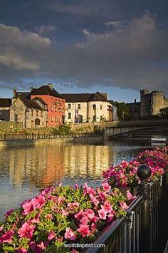 John's Quay and River Nore, Kilkenny City, County Kilkenny, Leinster, Republic…