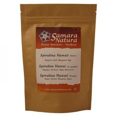 Spirulina Pulver Hawaii Samara, Nutrition, Cacao Powder, Calories, Superfoods, Natural, Pure Products, Coffee, Drinks