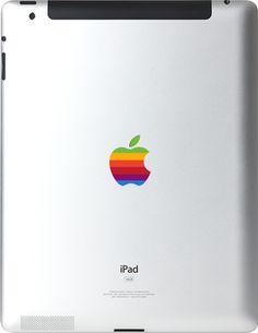 Ipad Decals: Old apple logo