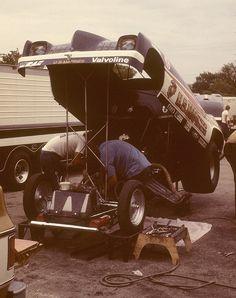 Mickey Thompson's U.S. Marines Pontiac Grand Am driven by Bob Pickett at Green Valley Raceway, Texas on 4 April 1976.
