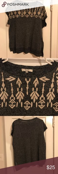 Madewell Embroidered Tunic Size Medium Really cute Madewell short sleeve lightweight sweater tunic in good condition. Looks great with a pair of shorts on cooler summer nights or layered over long sleeves in the fall and winter. The embroidery is stunning in person! Has a looser fit and could also fit a size large. Madewell Tops Blouses