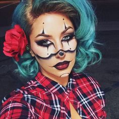 Gangster clown creative halloween makeup