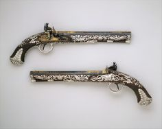 Pair of Flintlock Pistols by Samuel Brunn, London c. 1800