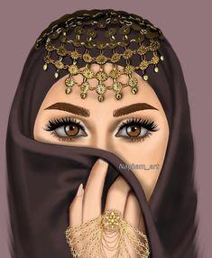 BakhtawerBokhari Girly M, Face Profile Drawing, Sarra Art, Hijab Drawing, Gypsy Girls, Islamic Cartoon, Anime Muslim, Hijab Cartoon, Lovely Girl Image