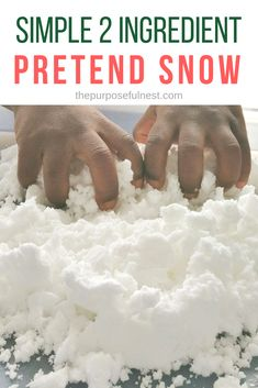 Make Pretend Snow for Play