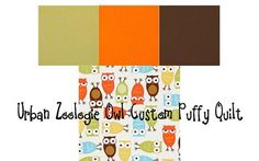 green, orange, brown and owls