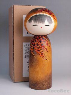 Japanese Sousaku Kokeshi Doll by Watanabe Masao / Saishu