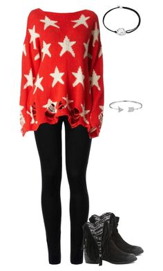 """""""Distressed Sweater"""" by xx-fallen-angels-xx ❤ liked on Polyvore featuring Wolford, Wildfox, Qupid, Bling Jewelry and Alex and Ani"""