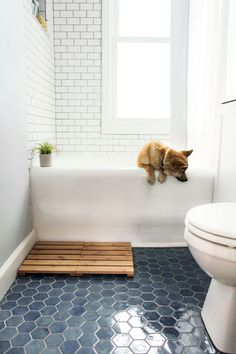 Bathroom decor for your bathroom renovation. Learn bathroom organization, bathroom decor suggestions, bathroom tile tips, master bathroom paint colors, and much more. Bathroom Floor Tiles, Modern Bathroom, Minimalist Bathroom, Tile For Small Bathroom, Dyi Bathroom, Remodel Bathroom, Budget Bathroom, Ceramic Tile Bathrooms, Shower Floor Tile