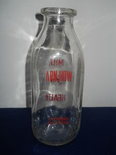 Fitchburg MA Milk Bottle