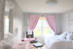 Feminine Pink and Gray Nursery - #projectnursery #pinkandgray