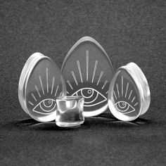 Glass Watcher Teardrop Plug | Custom Plugs - Best Ear Gauges, Flesh Tunnels For Stretched Ears