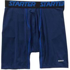 Starter Big Men's Compression Boxer Brief, Size: 2XL, Blue