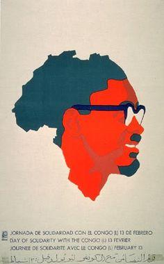 The bright red-orange color  emphasizes face. Alfredo Rostgaard. Congo, 1972