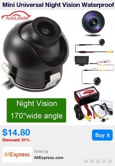 Mini Universal Night Vision Waterproof HD CCD Car Rear View Camera Parking Reverse Backup Camera 170 Degree * Pub Date: 13:25 Jul 1 2017