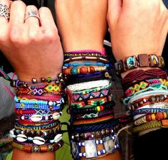 to think my wrists used to look like this and now I only have 3 bracelets :(