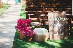 Colorful spring California wedding | Colorful wedding | 100 Layer Cake