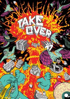 TAKE OVER Poster. by Tant, Kip, Unga & Deso